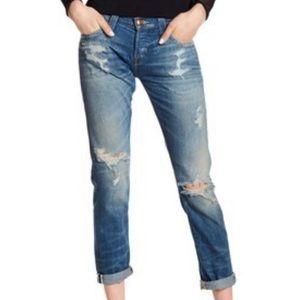 True Religion Cameron Distressed Slim BF Jeans